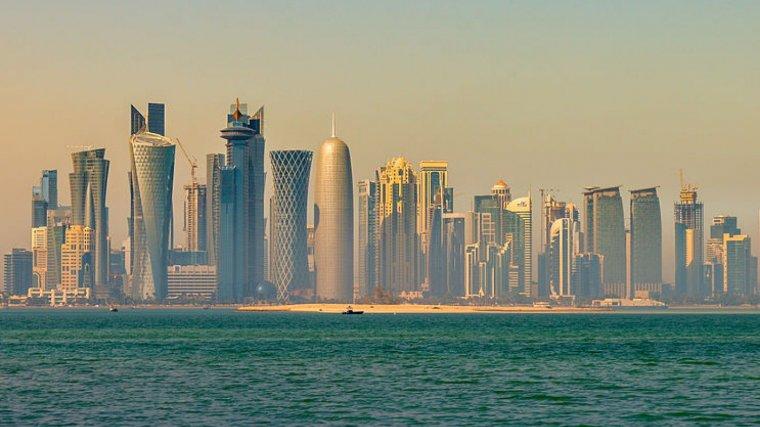 El imponente skyñine de Catar, el país más rico del mundo según el PIB per cápita.