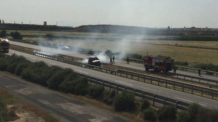 Imatge de l'accident a l'A-2.