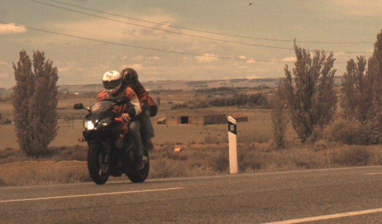 Imatge del motorista enxampat a l'N-240.