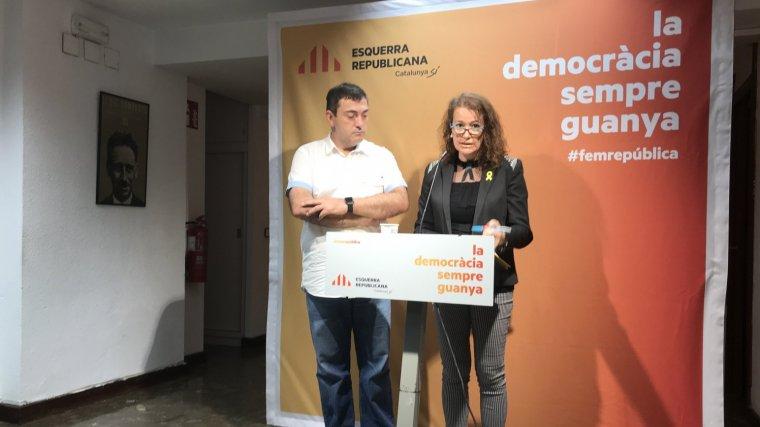 Roda de premsa dels senadors d'ERC pel Camp de Tarragona al Senat