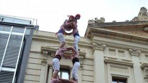 2de7 dels Xiquets de Tarragona al barri de les Corts de Barcelona