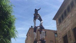 3de7 dels Xiquets del Serrallo a la diada grana de Montblanc