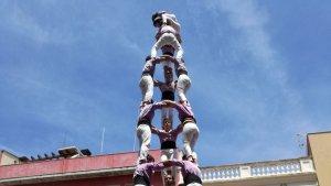 3de9 amb folre de la Colla Jove Xiquets de Tarragona a la Grallada de Vilanova