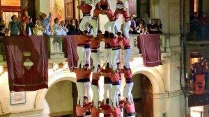 9de8 de la Colla Vella dels Xiquets de Valls a la diada de Completes