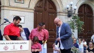 Acte de la proclamació de l'ambaixador dels Xiquets de Valls del 2018