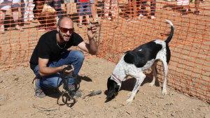 Amena jornada amb el 1er concurs de gossos tofonaires amb tòfona d'estiu a Prades