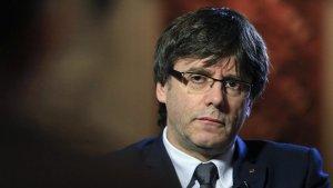 Carles Puigdemont, en una entrevista amb el periodista Jordi Évole