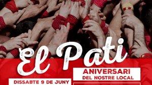 Cartell de la diada del Pati que organitza la Colla Joves Xiquets de Valls