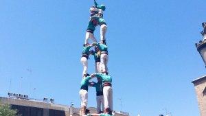 El 3 de 8 dels Castellers de Sant Pere i Sant ha estat el més matiner del seu historial