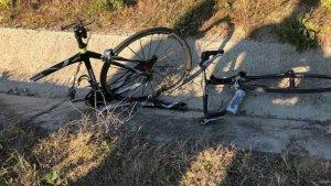 El ciclista ha sido atropellado por una furgoneta cuando circulaba por la carretera