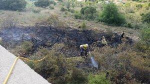 El foc ha cremat un total de 150 metres quadrats de camps erms