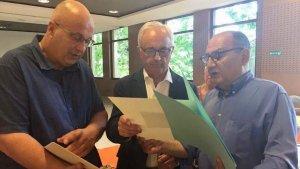 EL president de la comissió d'agermanament, Jordi Solé, va viatjar a França per continuar tractant projectes conjunts.