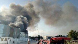 Els bombers encara treballen en les tasques d'extinció del foc