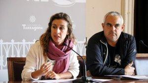 Els regidors de la CUP de Tarragona durant la roda de premsa.