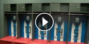 Els vestidors de la ciutat esportiva de la selecció argentina per al Mundial.