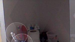 En una de les estanteries de Joaquim Forn es pot apreciar paper higiènic, pasta de dents i un raspall