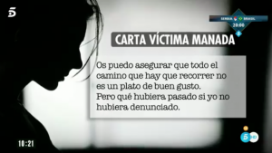 Fragmento de la carta de la víctima de 'La Manada'