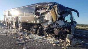 Imagen del autobús accidentado