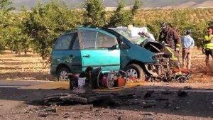 Imagen del vehículo accidentado en Murcia