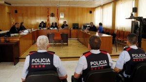 Imatge de la sala de vistes de l'Audiència de Tarragona, durant el judici