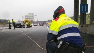 Imatge de l'accident a l'autovia A-2