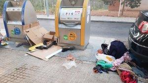 Imatge de l'estat d'uns contenidors a la ciutat de Tarragona.