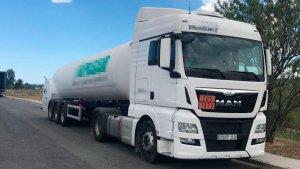 Imatge del camió que conduïa el conductor que ha donat positiu en cocaïna.