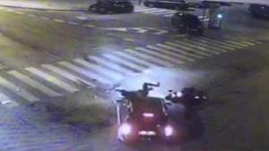 Imatge del moment de l'accident