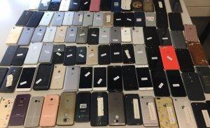Imatge dels mòbils recuperats pels Mossos d'Esquadra durant el Sónar 2018.