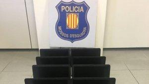 Imatge dels ordinadors robats a l'Institut Baix Montseny de Sant Celoni.