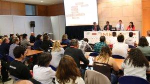 Imatge d'una conferència de l'IMEX del 2017