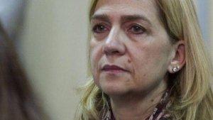 Infanta Cristina llorando