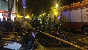 L'accident ha provocat una gran expectació a la zona