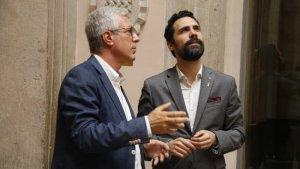 L'alcalde de Tarragona, Josep Fèlix Ballesteros, amb el president del Parlament, Roger Torrent.
