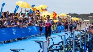 Les millors imatges del Triatló masculí dels Jocs Mediterranis a Altafulla