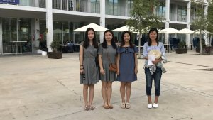 Les quatre estudiants xineses de la URV que han participat al reportatge