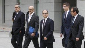 Los exconsellers del Govern catalán