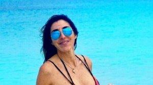 Paz Padilla posando en bikini