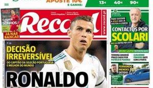 """Portada: """"Cristiano sortirà del Madrid"""""""