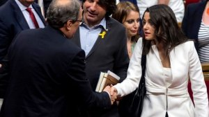 Quim Torra i Inés Arrimadas, al Parlament de Catalunya