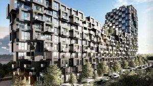 Recreació del futur complex residencial The Kube