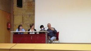 Roda de premsa de presentació del Concurs de Castells que s'ha fet aquest migdia a l'Antiga Audiència