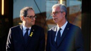 Trobada entre el president Torra i l'alcalde Ballesteros