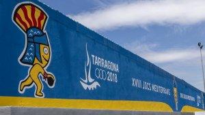 Un mural dels Jocs Mediterranis Tarragona 2018.