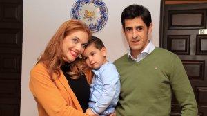 Víctor Janeiro, Beatriz Trapote y el pequeño Víctor