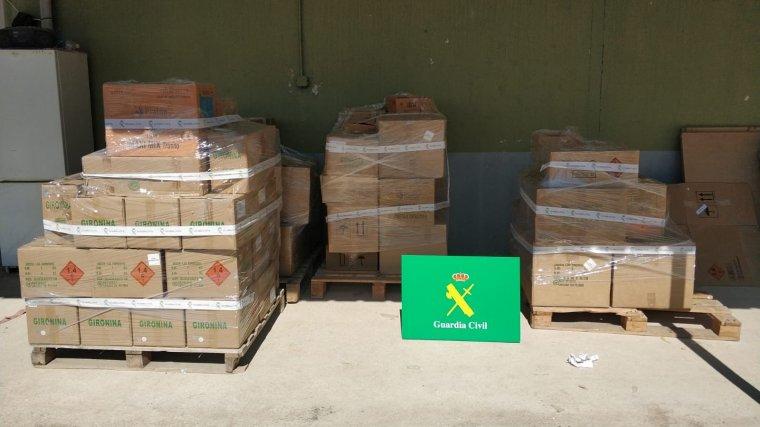 En total, la Guàrdia Civil ha intervingut 1.762 quilos de material pirotècnic al nostre país