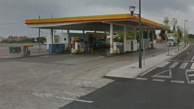 Imagen de archivo de una gasolinera Shell