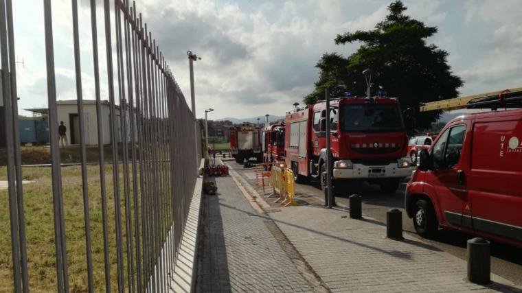Imatge de la zona on treballen els Bombers, a l'exterior del Parc Taulí de Sabadell.