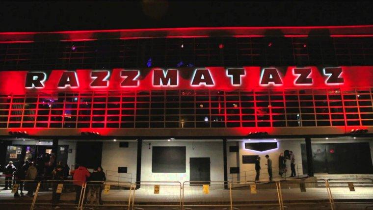 Imatge de l'exterior de la sala d'espectacles 'Razzmatazz'