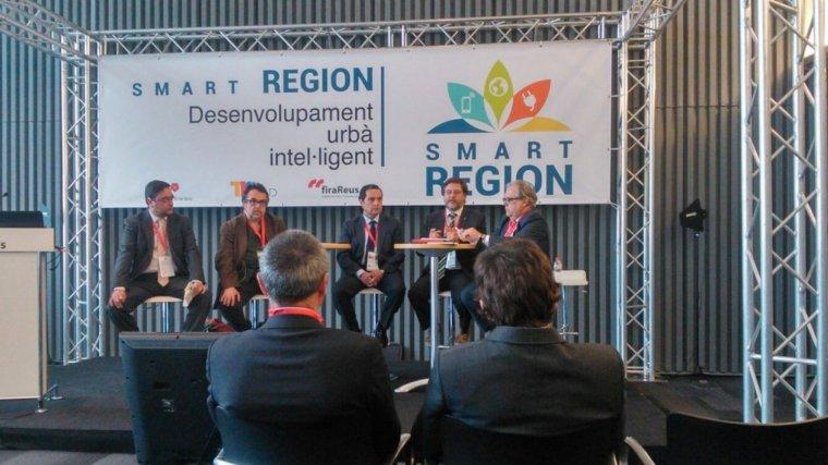 Imatge d'una edició anterior d'una Jornada Smart Region a firaReus.